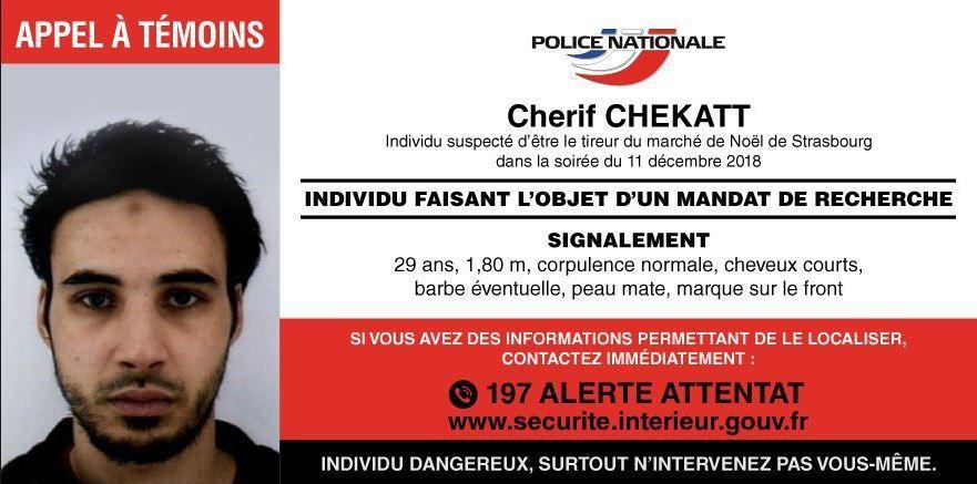 La police diffuse (enfin) un appel à témoin [Attentat de Strasbourg]