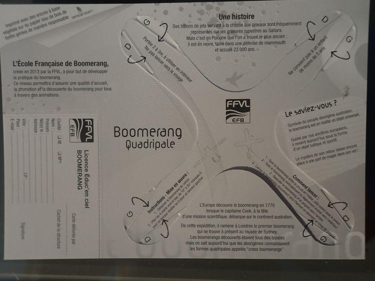 Le mini boomerang de la FFVL : mode d'emploi intégré ..
