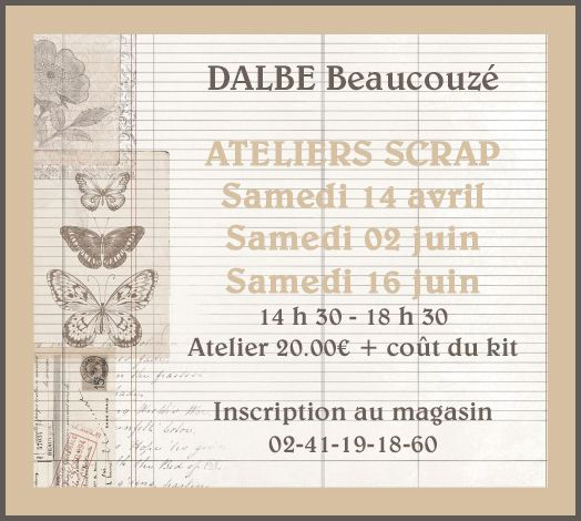 DALBE Angers - ATELIERS SCRAP