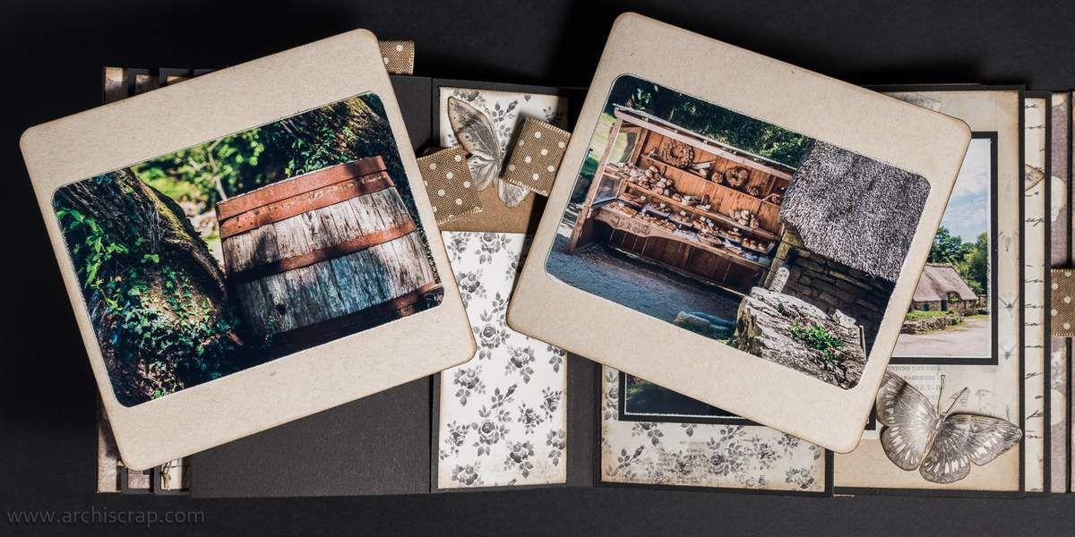 Pages 6 et 7 (2 pochettes + 2 tags) - pages 8 (arrière pochette + tag) et page 9
