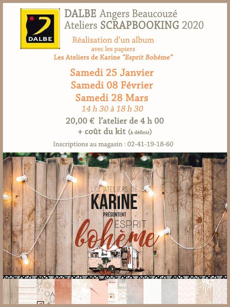 ATELIERS SCRAP  au magasin DALBE Angers-Beaucouzé