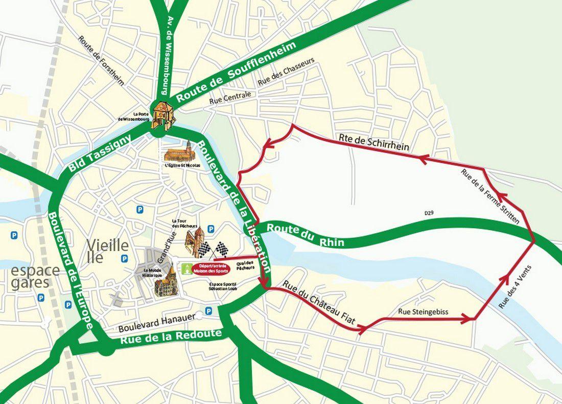 Le parcours 2015: une boucle pour le 5 km, et 2 boucles pour le 10 km