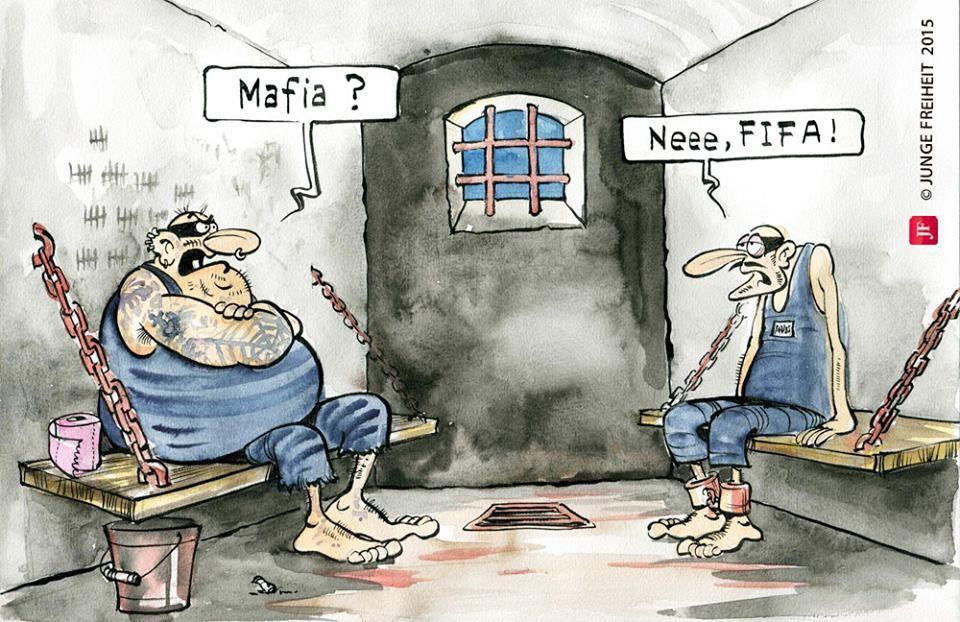 Karikatur aus der aktuellen Junge Freiheit