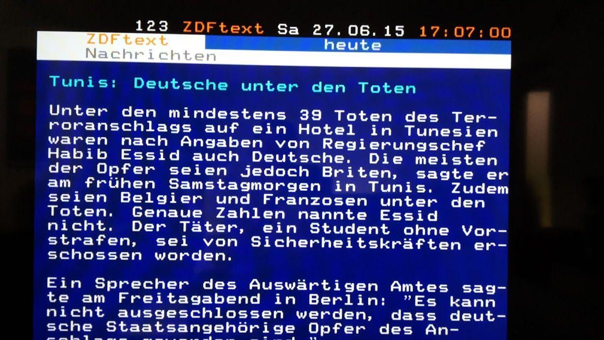 Teletext auf ZDF