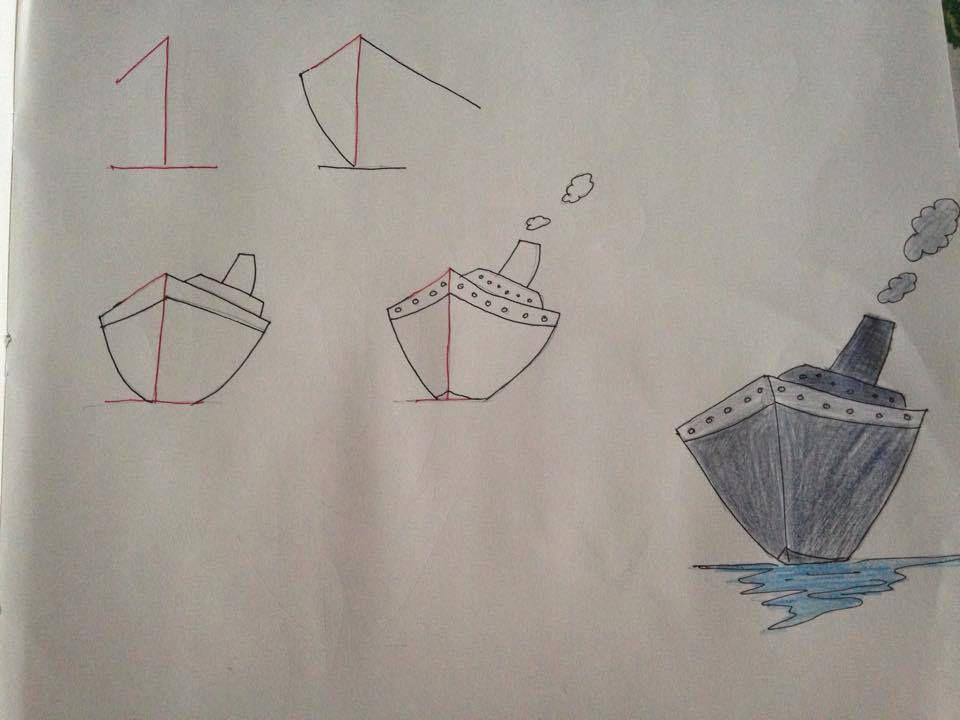 Un navire à partir du 1, un requin à partir du 22