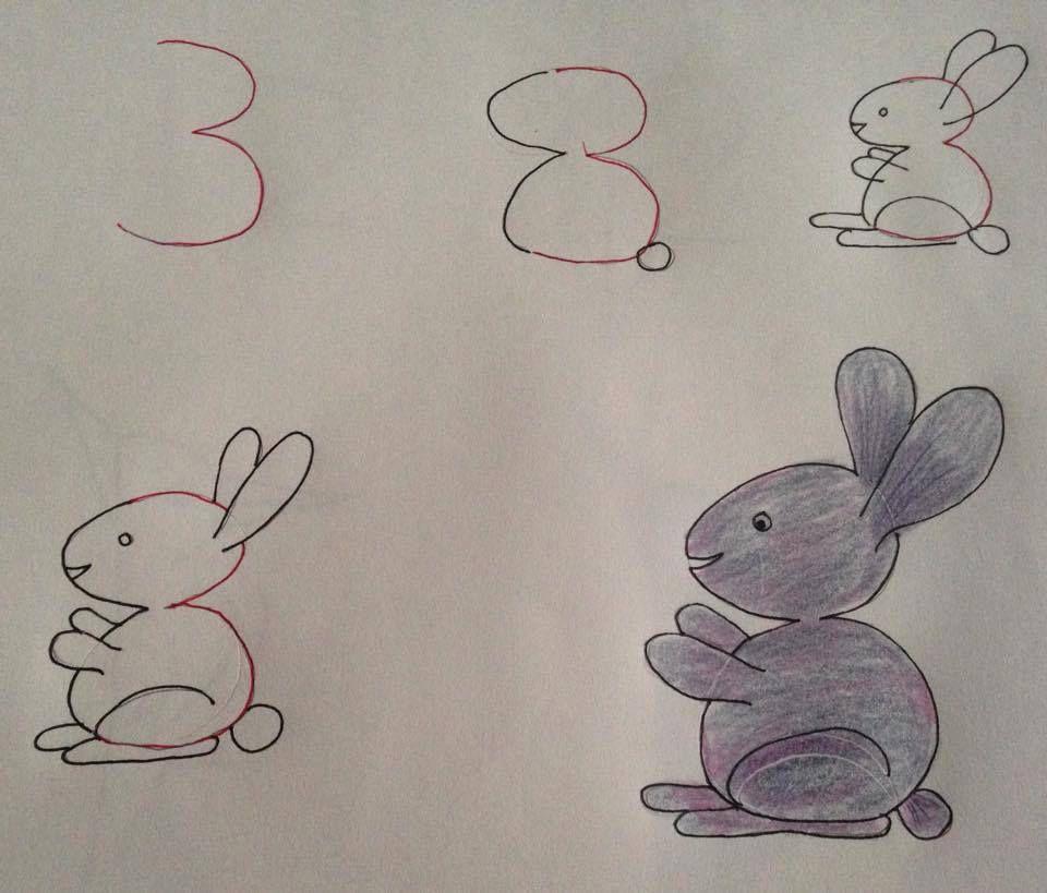 Une cigogne à partir du 2, un lapin à partir du 3