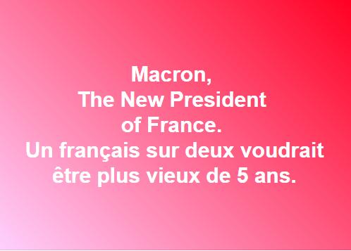Emmanuel MACRON, nouveau Président de la République Française 7 Mai 2017