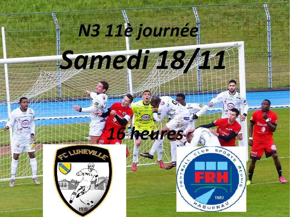 N3 11è journée: La convalescence du FRH passe par une victoire contre Lunéville au Parc des Sports