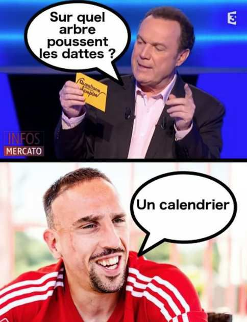 Humour Ribery: Question de Julien Lepers