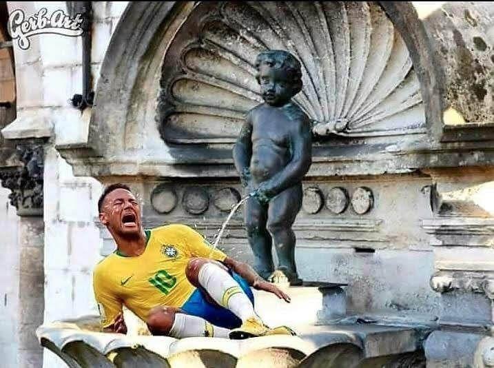 Humour Russia 2018: Le Brésil de Neymar est éliminé par la Belgique