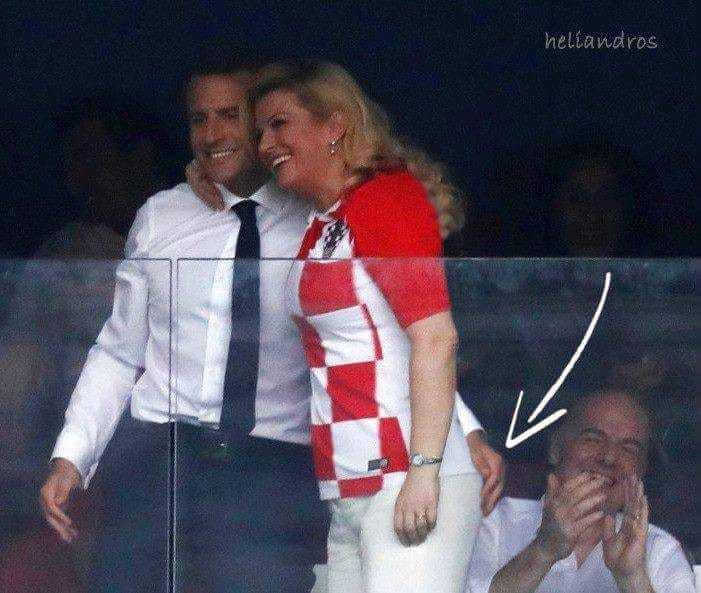Photomontage de la main de Macron sur les fesses de la jeune et pulpeuse Kolinda