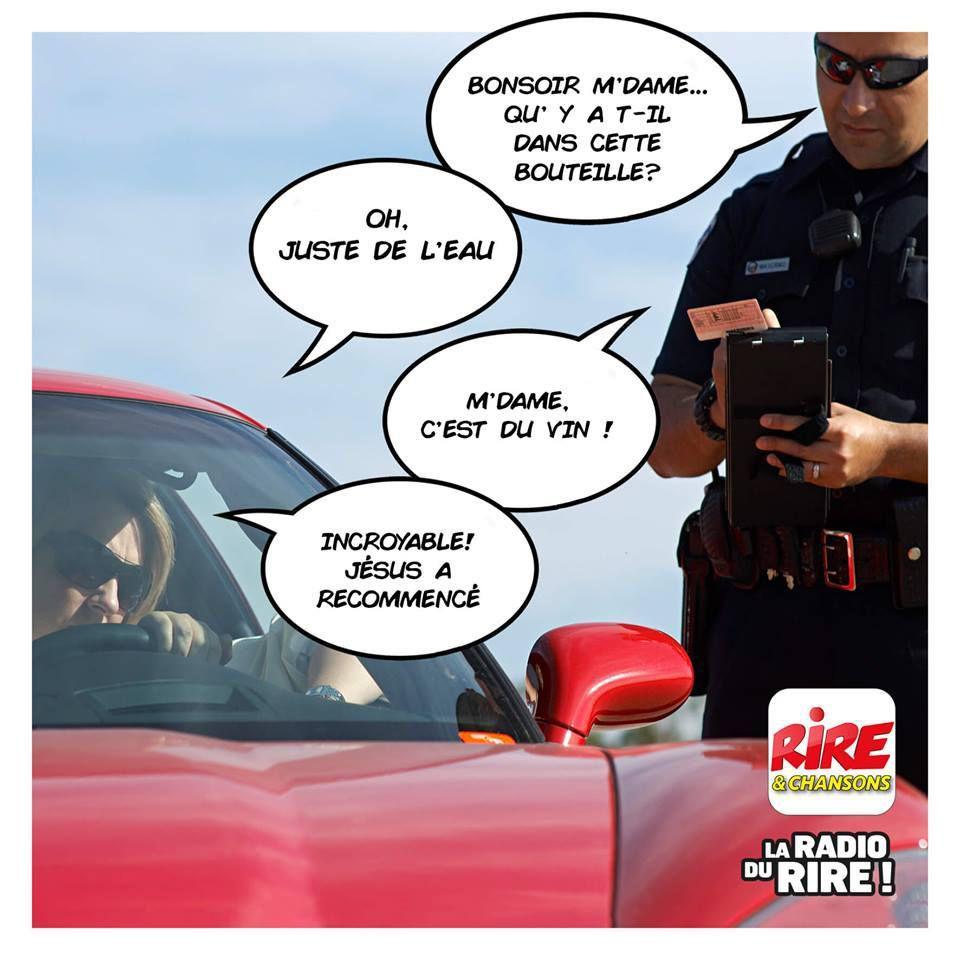 Humour alcootest: Pas de miracle du controle de gendarme
