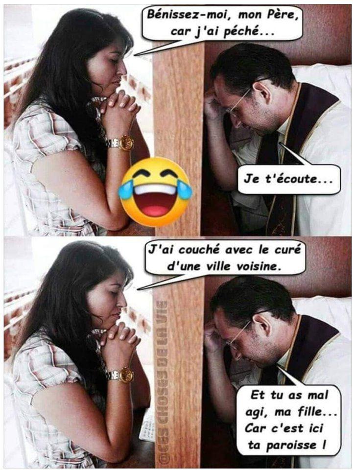 Humour Confession coquine: Quand le curé n'est pas content