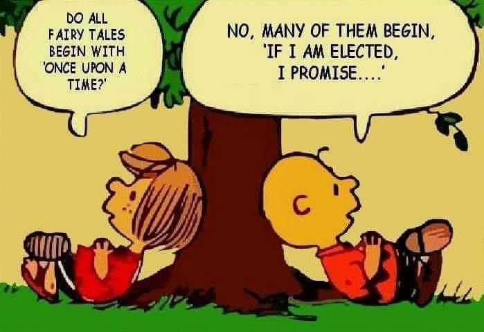 Humour Snoopy: Réflexion politique