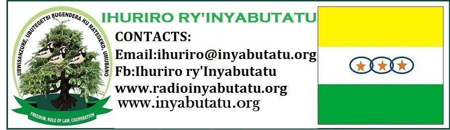 ITANGAZO: IHINDUKA MW'IHURIRO RY'INYABUTATU