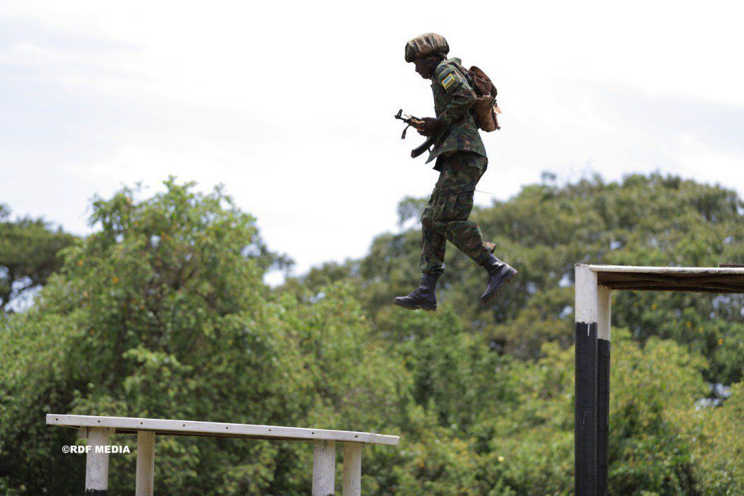 A Rwanda Special Forces soldier during training.