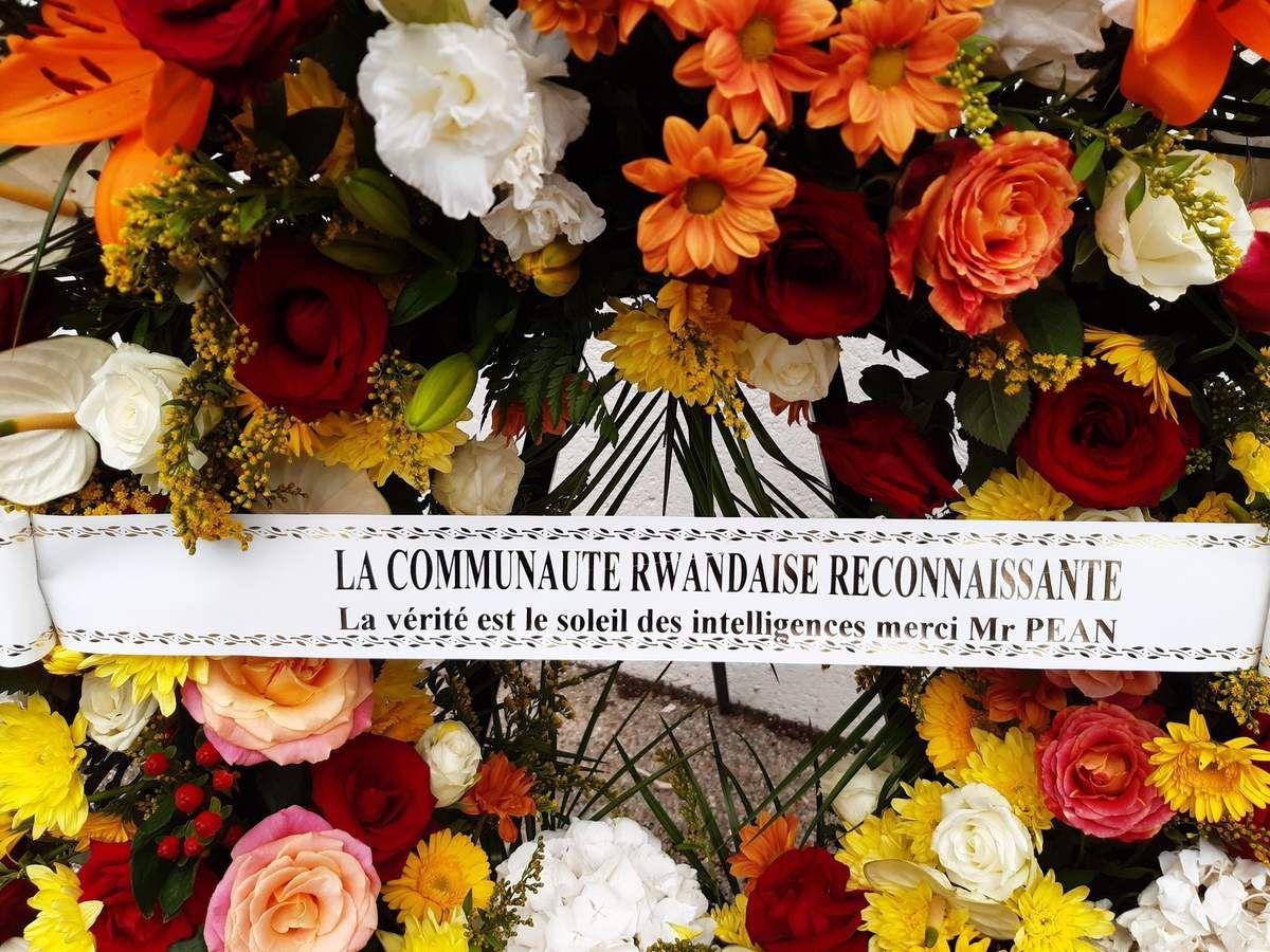 Hommage de la Communauté rwandaise à Pierre Péan, Bouffémont le 31 juillet 2019.