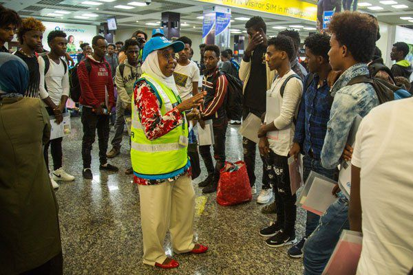 Rwanda welcomes first group of African refugees from Libya.
