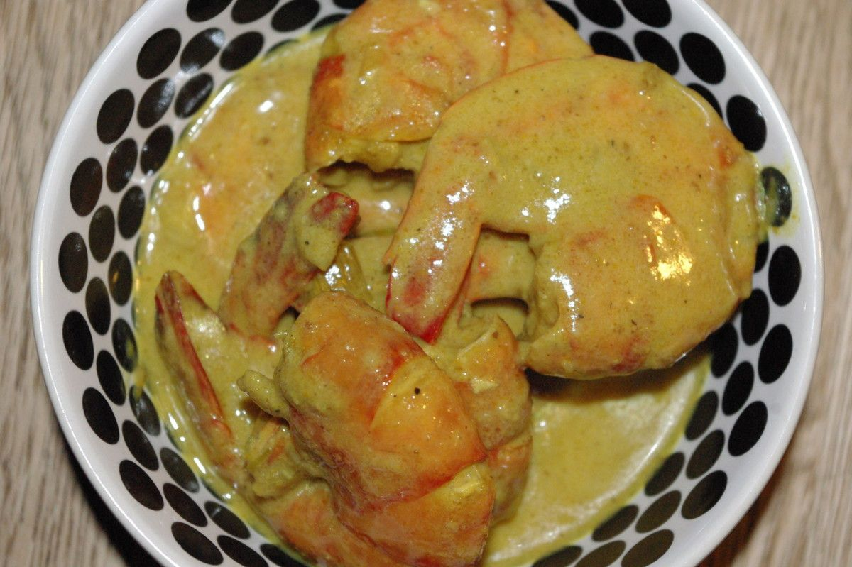 Gambas curry & lait de coco