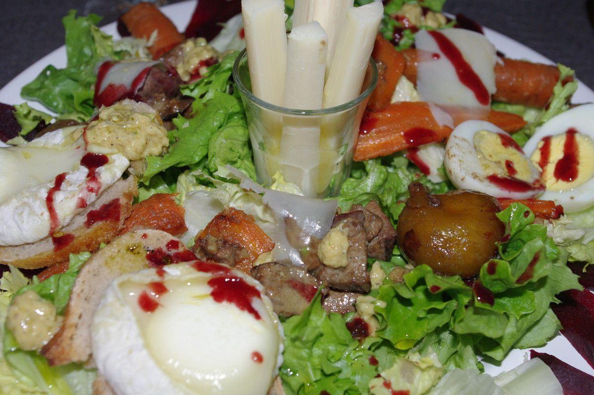 Une salade bien composée
