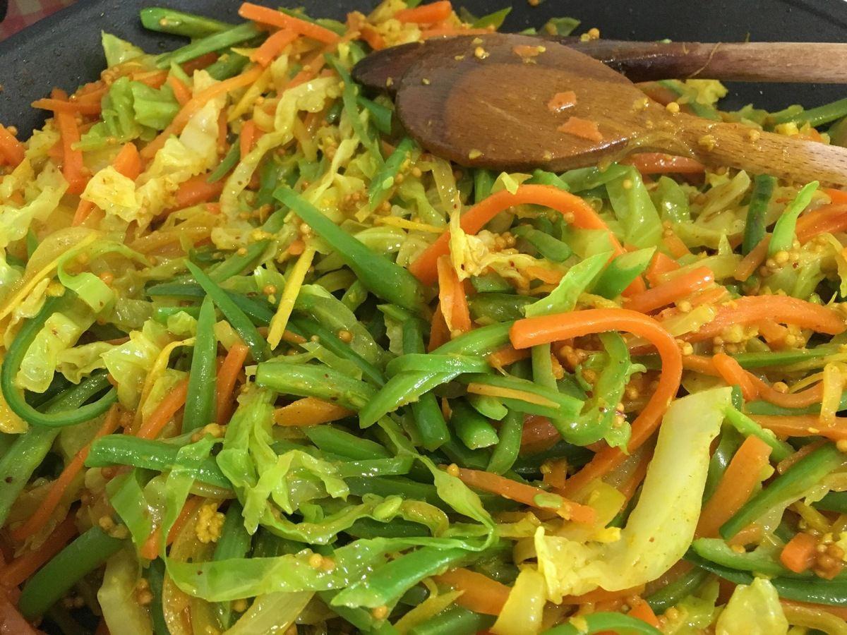 Achard de légumes mauricien