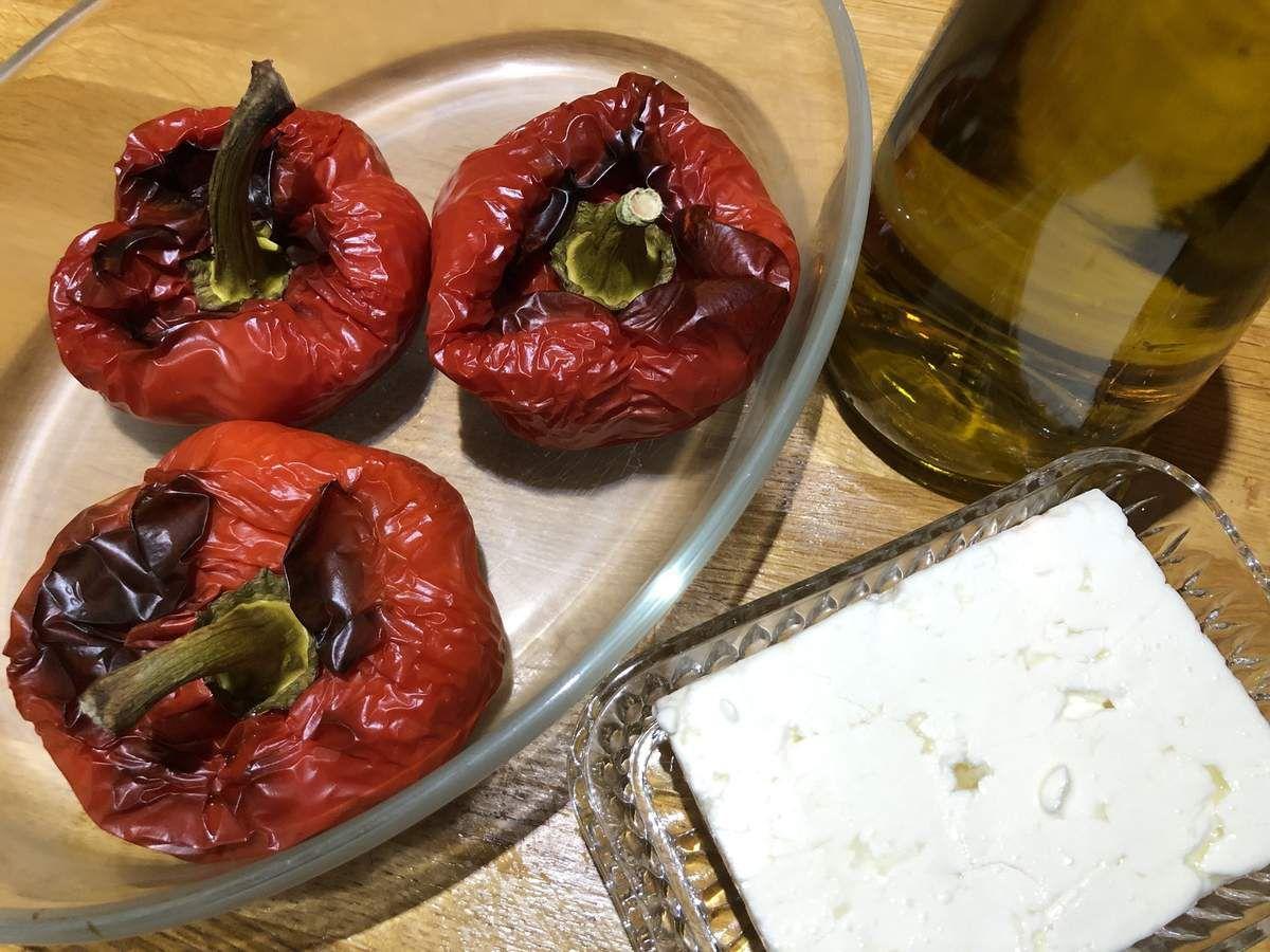 Tartinade poivron rouge fêta