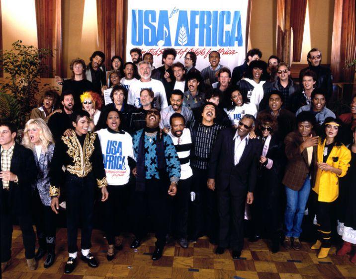 """Les chanteurs de """"USA for Africa"""""""