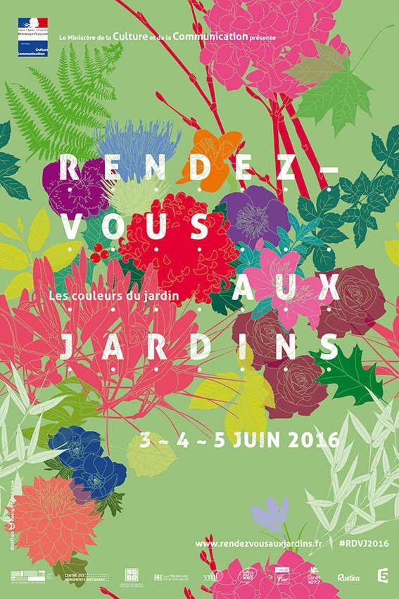 """Affiche """"printemps"""" Rendez-vous aux jardins 2016"""