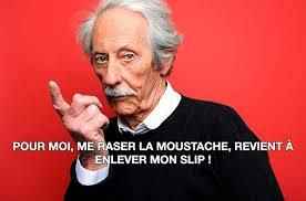 Jean Rochefort, citation sur sa moustache
