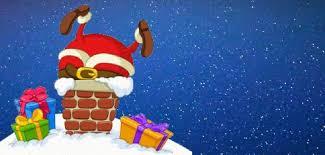 Le Père Noël coincé dans la cheminée