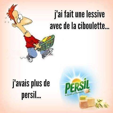 Lessive Ciboulette versus Persil ,-)