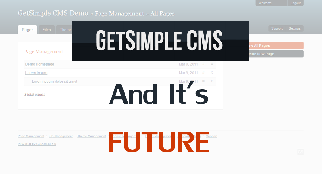 GetSimple is one of the best light-weighted CMS ever