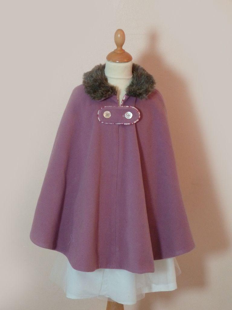 capes et manteaux pour petites filles