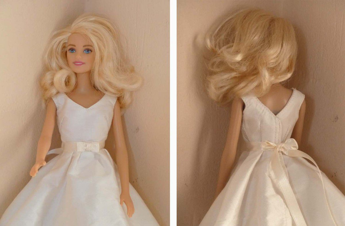 robe de mariée soie sauvage ceinture satin 23€
