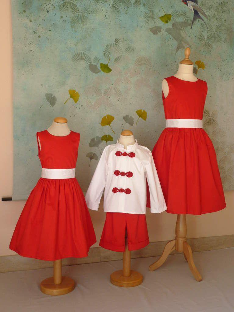 cortège Hélène rouge et blanc personnalisé