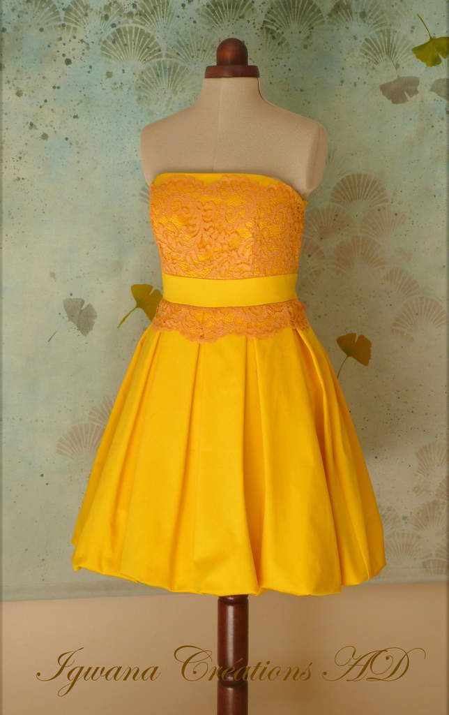 Robe bouton d'or