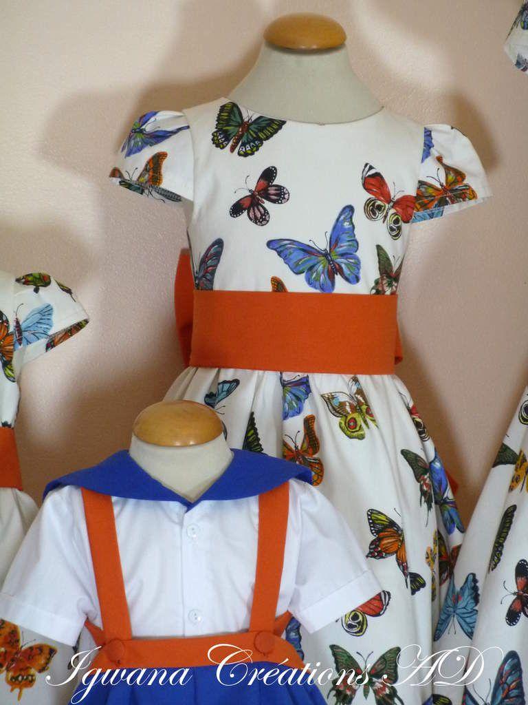 cortège Julie: modèle danseuse dos plein avec tissus papillons