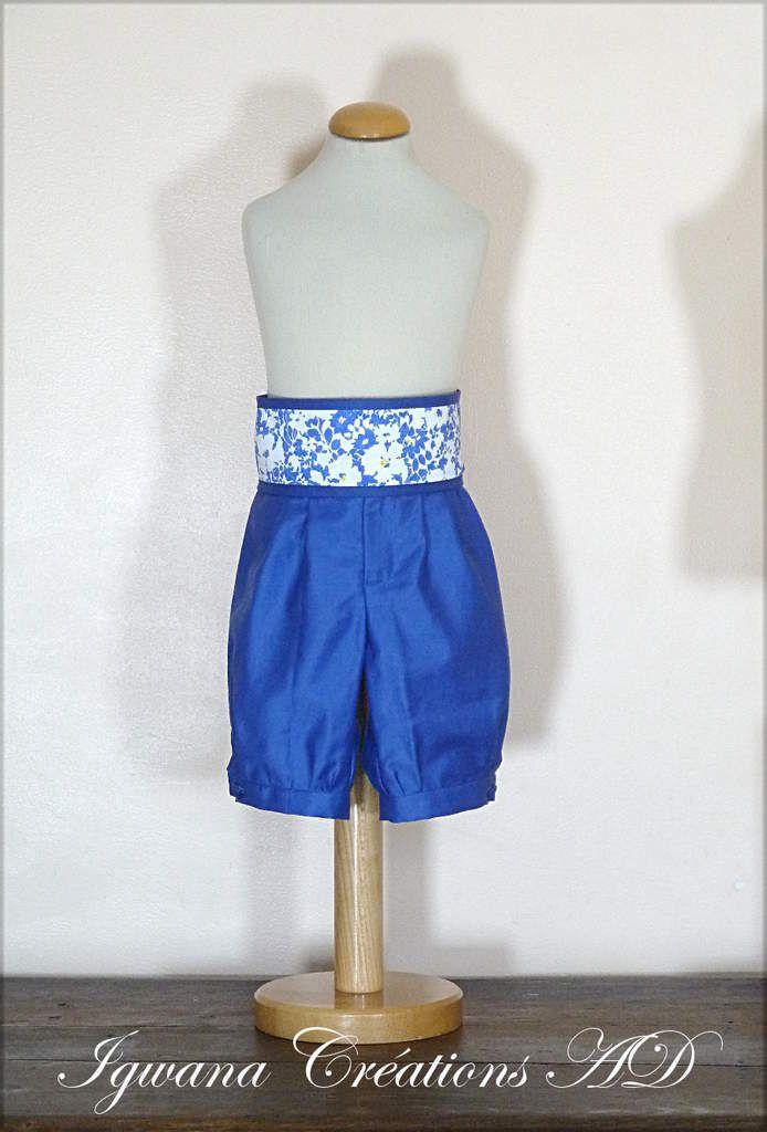 cortège Hélène liberty et coton bleu