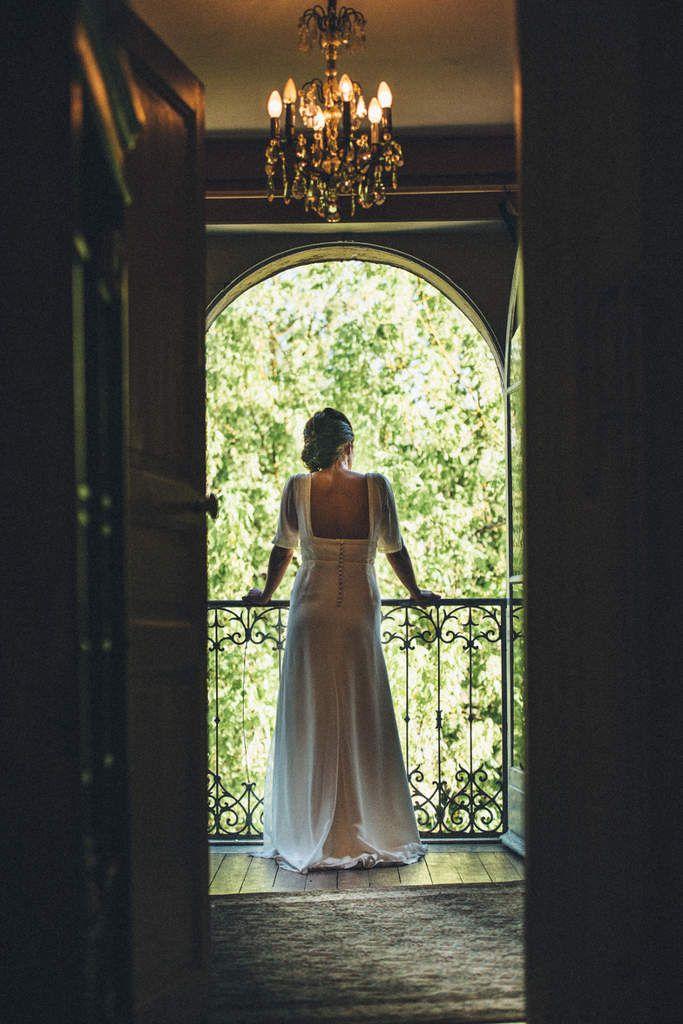 crédit photo Maxime Chermat. robe réalisée dans un tissu fluide (crêpe) et mousseline et dentelle.
