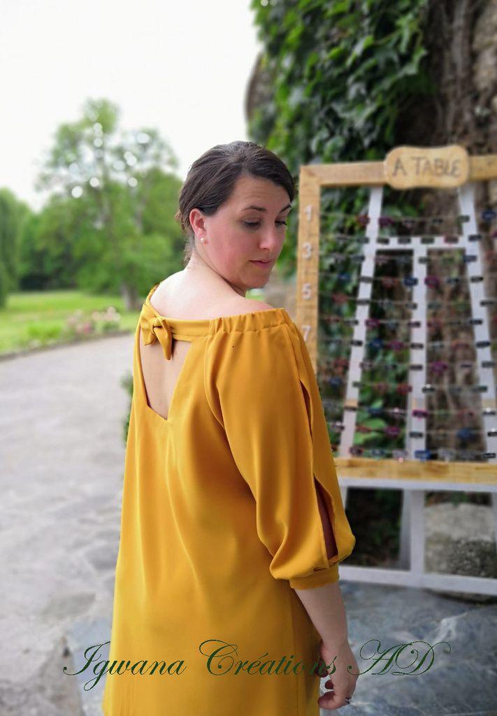 Robe Ajaccio jaune moutarde