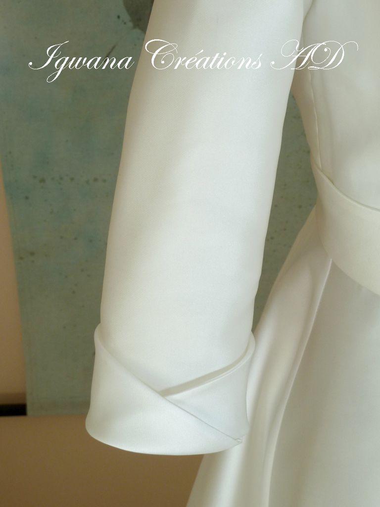 Robe Victoire en mikado souple...votre mission si vous l'acceptez....