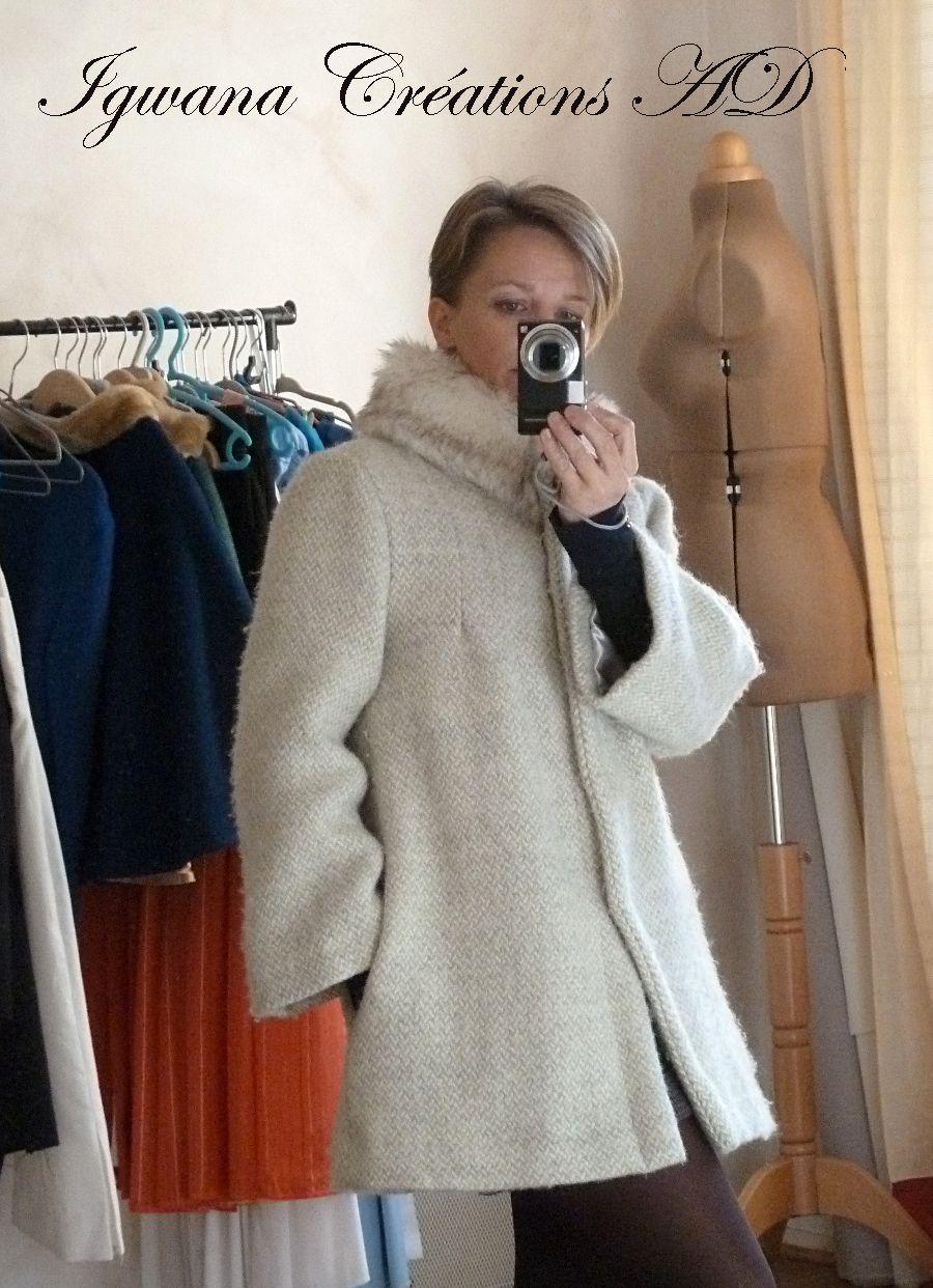 manteau Suzie: un joli manteau trapèze pour femme