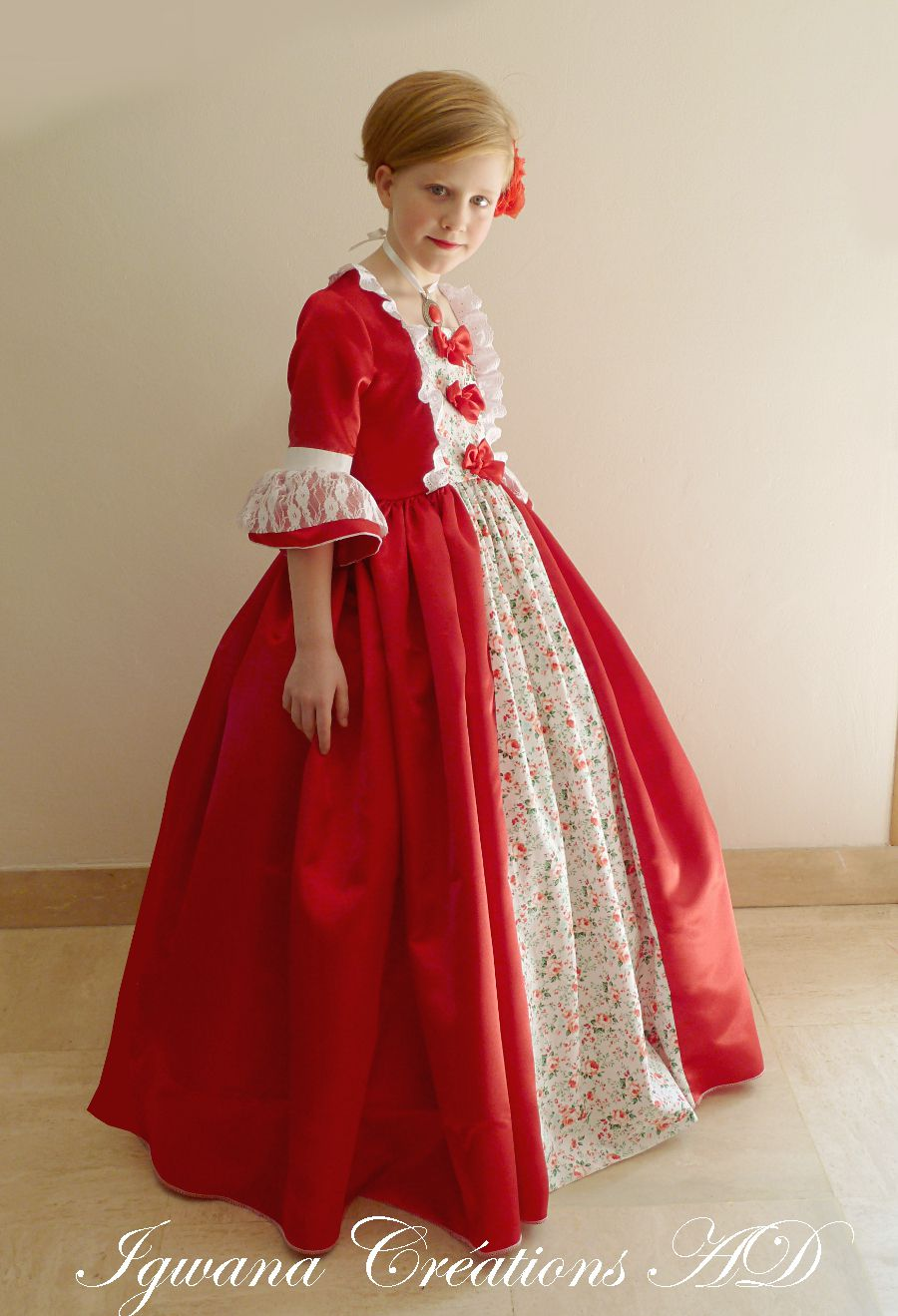 Robe de marquise Oliveira, version rouge