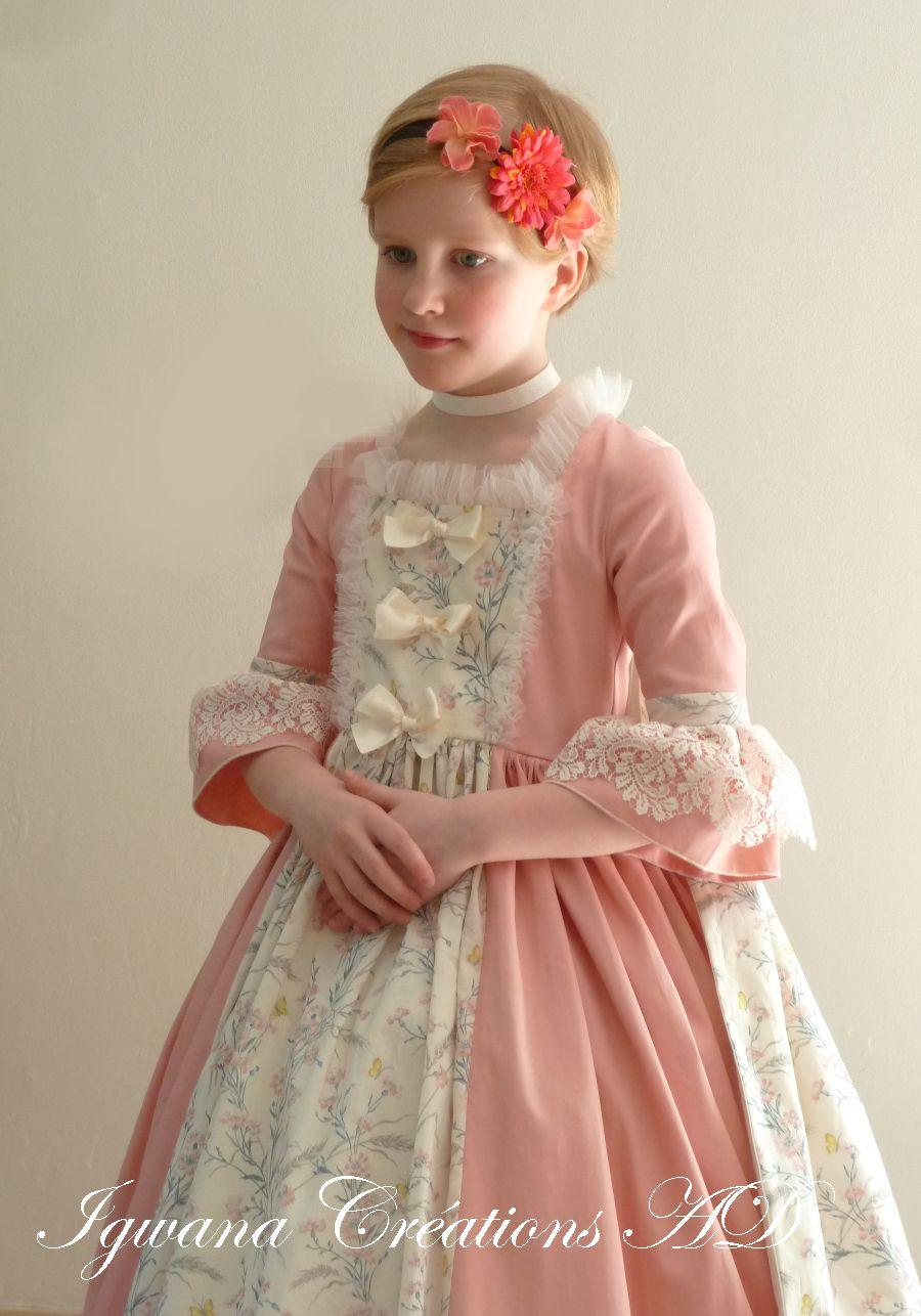 Robe princesse Elisabeth et manteau de cour