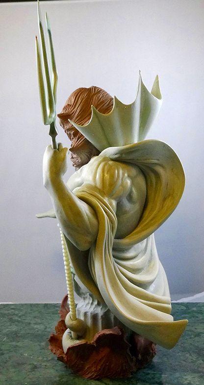 turn over du buste/ painted  by Arnaud GIRO