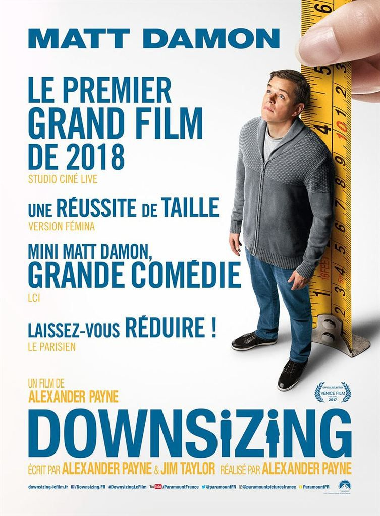 Critique Ciné : Downsizing (2018)