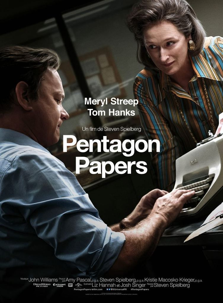 Critique Ciné : Pentagon Papers (2018)