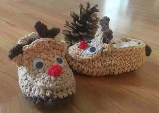 Les chaussons petits rennes d'Evelyne G