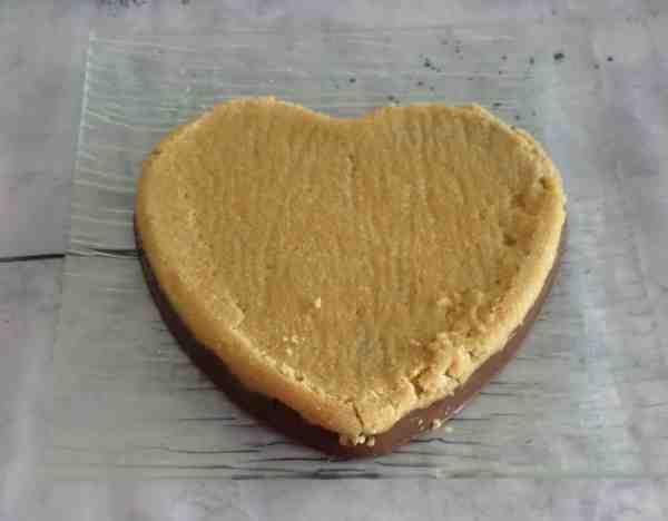 Un coeur St Valentin en dessert