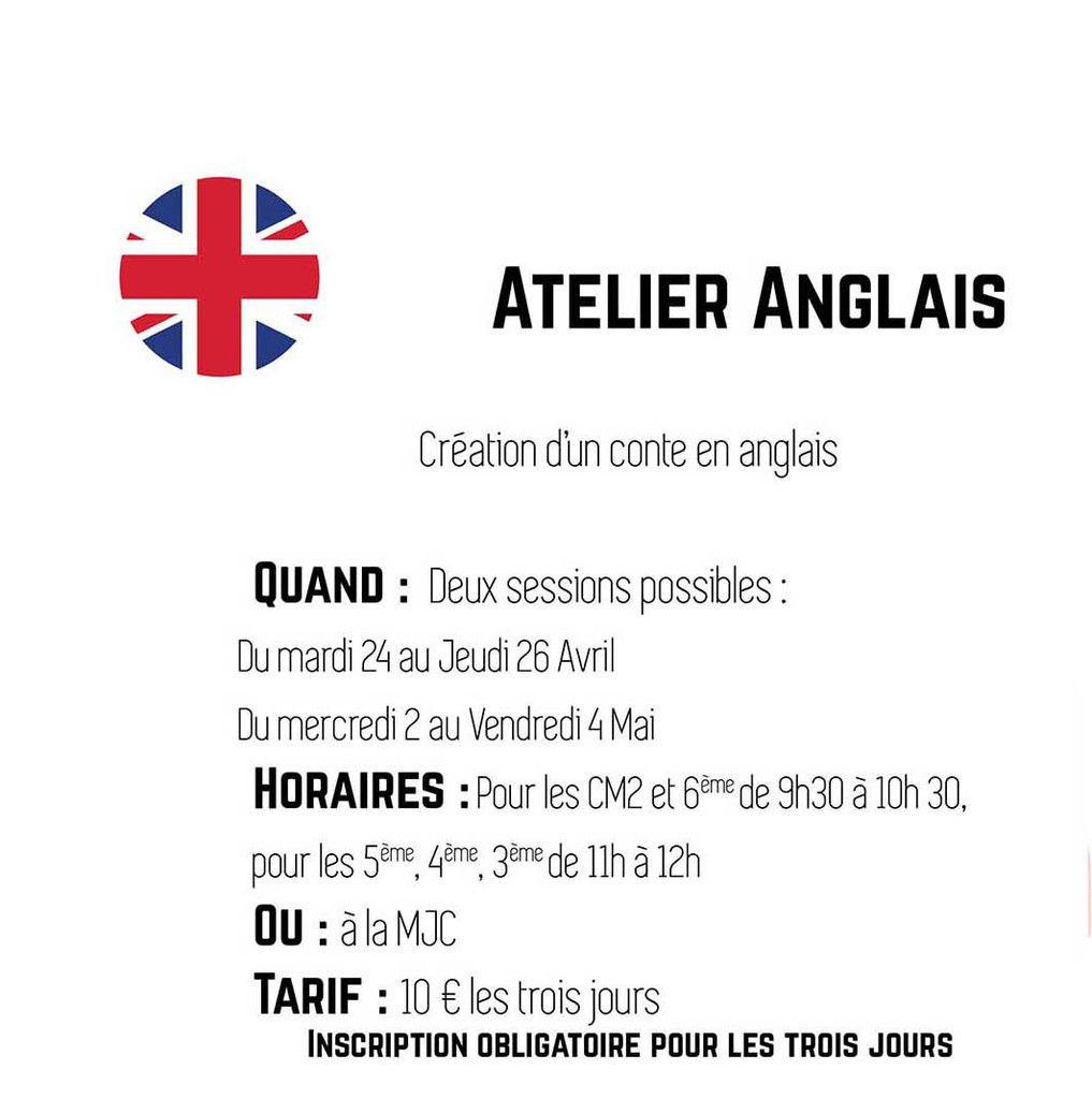 VACANCES de PRINTEMPS : Atelier ANGLAIS